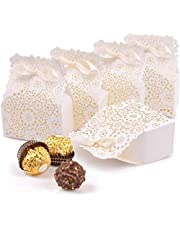 50 Pcs Candy boxes favour Wedding party Bridal shower Birthday party Baby shower, Anniversary Holiday Celebration Decorations