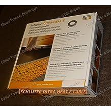 Schluter Systems DITRA-HEAT-E Floor Heating DHEHK Cable All Sizes 120V & 240V (DHEHK12064 120V ( 64.4 Ft² ) 815W)
