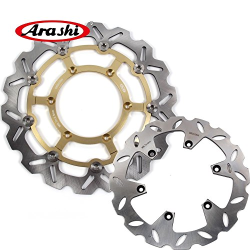 Arashi Front Rear Brake Disc Rotors for SUZUKI DRZ400SM 2005-2009 Motorcycle Replacement Accessories DRZ 400 DRZ400 SM 400SM Gold 2006 2007 2008 ()