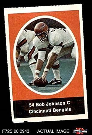 amazon com 1972 sunoco stamps bob johnson cincinnati bengals
