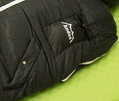 Andes Walker - Schlafsack-Jacke zum Anziehen für Camping & Festivals - extragroß Schwarz NYXHxNmqy