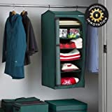 Green Heavy Duty Hanging Christmas Decoration Storage Bag With Shelves 6 Tier 18'' x 18''D x 40''H