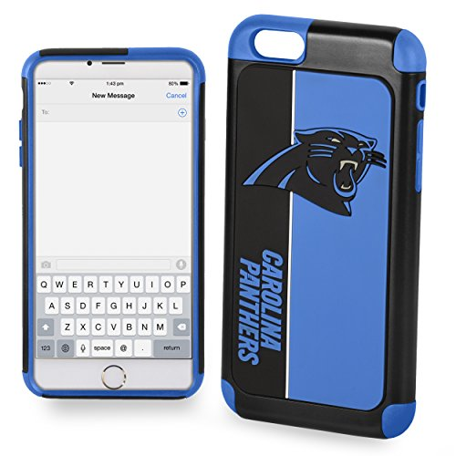 Forever Collectibles Dual Hybrid BOLD Series Case for iPhone 6/6S - NFL Carolina Panthers