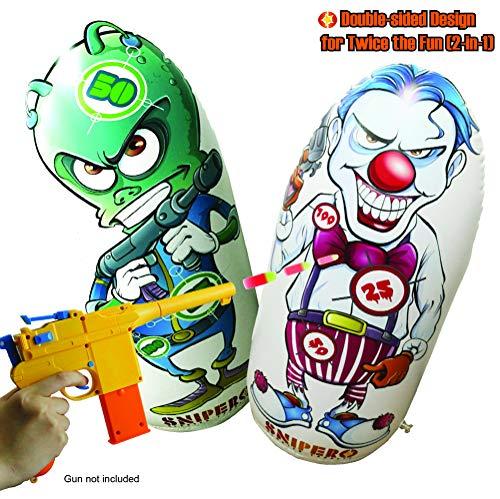 Snipero Target for Nerf Guns - Nerf Sniper Shooting Practice Game - Nerf Party Fun (Clown Shooting Target)