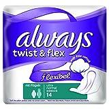 Always Twist & Flex Binden, Normal Plus, 10er Pack (10 x 14 Stück)
