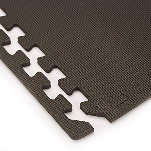 We Sell Mats Foam Interlocking Square Floor Tiles with Borders, (Each 2 x 2 Feet),   16 SQFT (4 Tiles + Borders) - Black by We Sell Mats (Image #4)