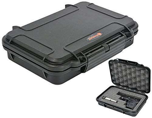 Pistol Case Handgun Hard case Elephant Elite EL008 with Pre-Cubed Foam, Waterproof Concealed Carry for any Gun of 8