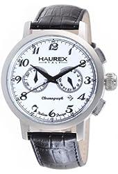 Haurex Italy Men's 9A343UW1 Maestro Chronograph White Dial Watch