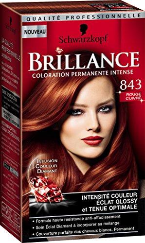 schwarzkopf brillance milan fashion week rouge cuivr 843 amazonfr hygine et soins du corps - Coloration Rouge Schwarzkopf