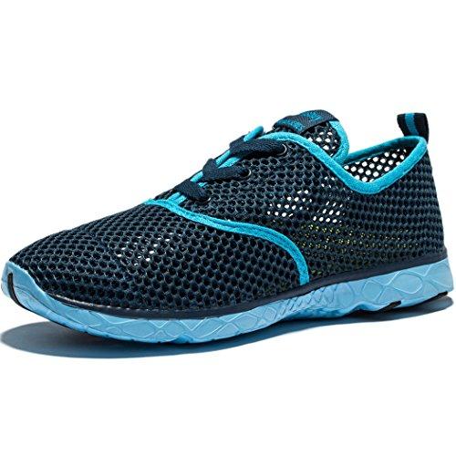 Kensbuy Womens Mesh Aqua Water Shoes Scarpa Da Trekking Leggera Ad Asciugatura Rapida Blu Scuro