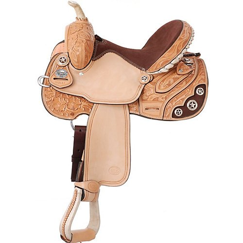 (Silver Royal Lamar Barrel Saddle 14.5)