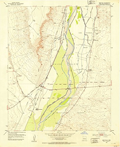 - New Mexico Maps | 1952 Abeytas, NM USGS Historical Topographic Map | Cartography Wall Art | 24in x 30in