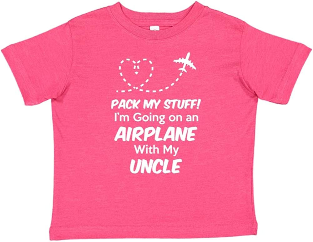 Pack My Stuff Toddler//Kids Short Sleeve T-Shirt Im Going On an Airplane with My Uncle