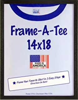t shirt frame black 14x18