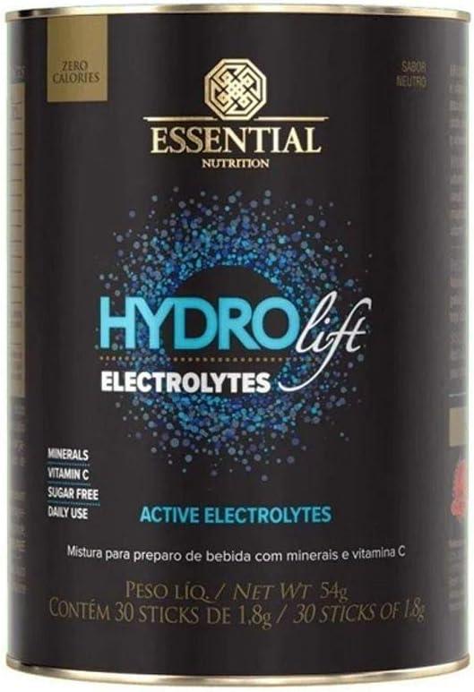 Isotônico Hydrolift Electrolytes - 30 Sticks de 1, 8g Neutro - Essential Nutrition, Essential Nutrition