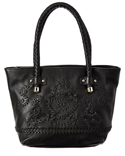 Jack Rogers Mara Tote Shoulder Bag, Black, One Size (Domed Tassel)