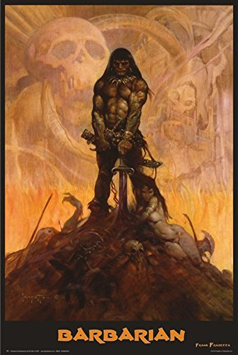 Barbarian Poster by Frank Frazetta