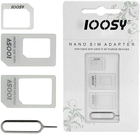 Adaptateur de Carte SIM 3 en 1 pour HTC Desire 530 Smartphone Micro-SIM Nano-SIM Universel