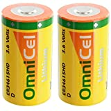 2x OmniCel ER34615HD/S High Drain Lithium Thionyl Chloride Battery AMR Backup