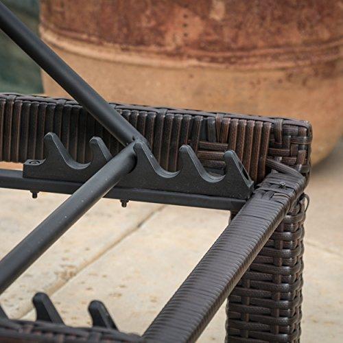 Set Of 2 Estrella Outdoor Pe Wicker Adjustable Chaise