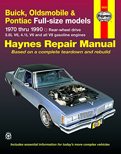 Price comparison product image Haynes Buick Oldsmobile and Pontiac Full-size (RWD) (70 - 90) Manual