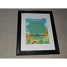 "Framed Bonnaroo 2008 Handbill Mini-Poster, 14"" by 17"", Pearl Jam, Metallica, Kanye West"