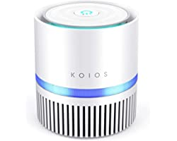 KOIOS Air Purifier for Home, True HEPA Air Filter for Bedroom Small Room and Office Removes Allergies Smoke Dust Pollen Pet D