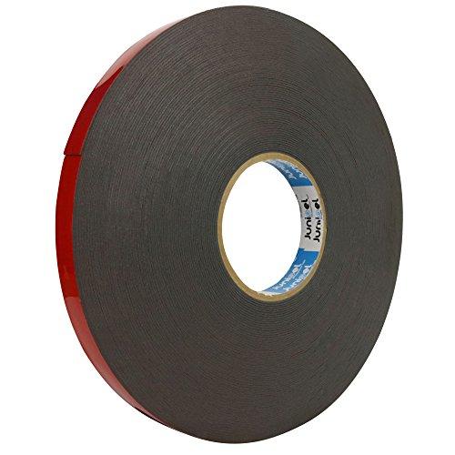 Junipel Automotive Grade Black Heavy Duty High Bound High Density Double Sided Tape 108 ft. Master Roll (3/4 in.)
