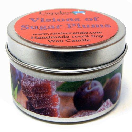 【福袋セール】 Visions Candle of B00FBOPLZ4 Sugarplums 4oz、スーパー香りつきSoy Candle Sugarplums Tin B00FBOPLZ4, ヒタチシ:913ff044 --- a0267596.xsph.ru