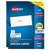 Avery Address Labels with Sure Feed for Laser Printers, 1'' x 2-5/8'', 15,000 Labels – Great for FBA Labels (2 Packs 5960)