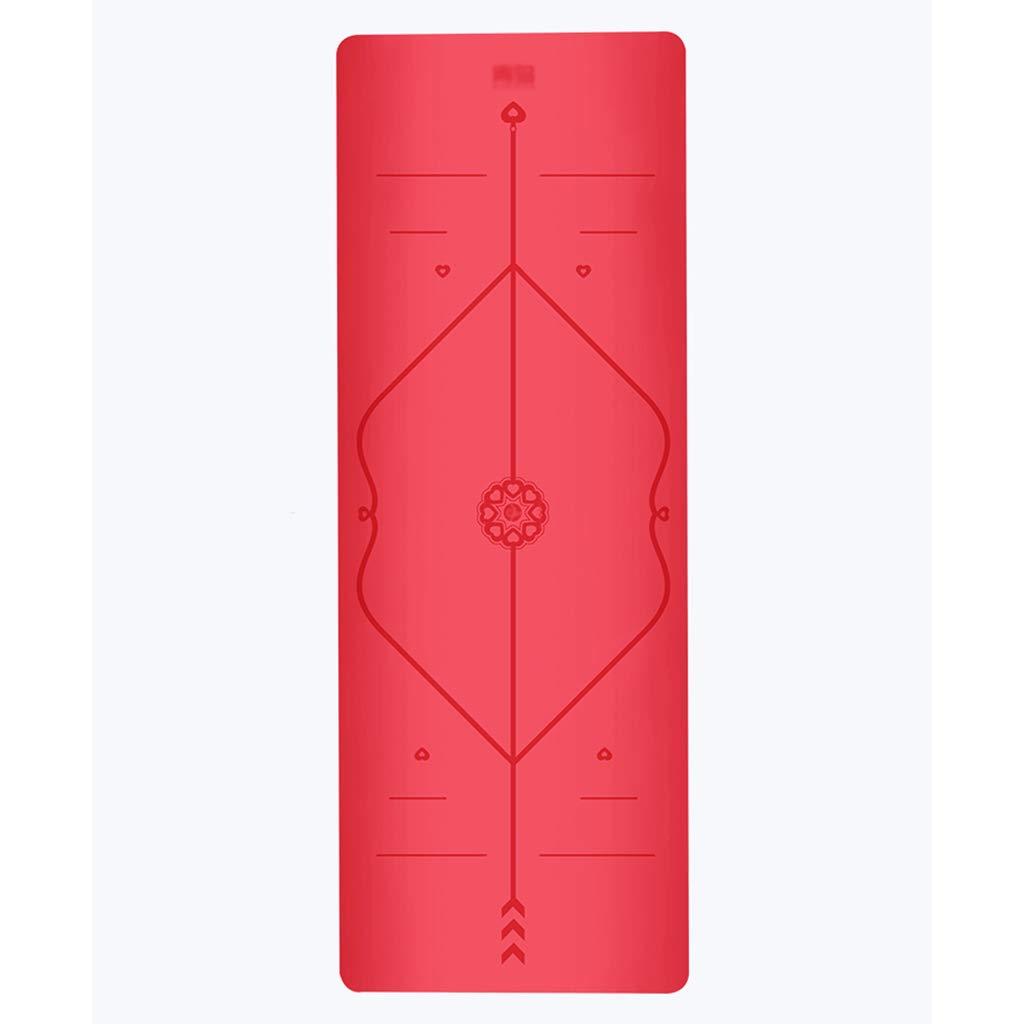 Bewegung Yoga-Matte Rutschfeste Yogamatte Stärke -5mm, Größe 183cm  68cm professionelle Yoga-Fitness-Matte, Naturkautschuk PU-Yoga-Matte.