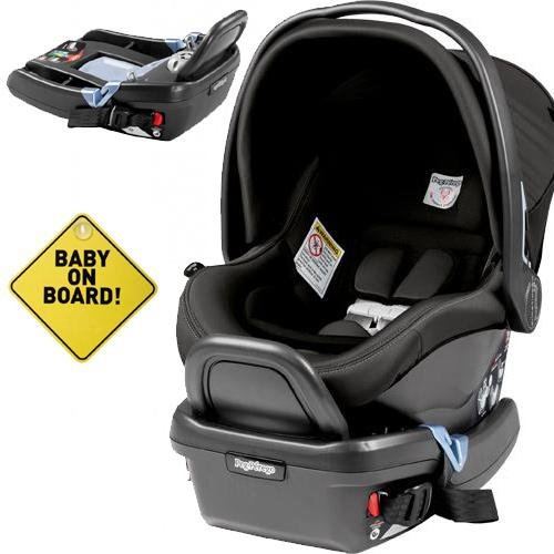 Peg Perego – Primo Viaggio 4-35 Car Seat w Extra Base and Baby on Board Sign – Atmosphere