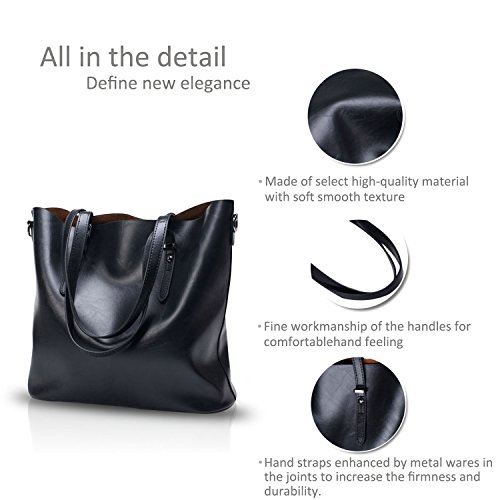 Women PU NICOLE Bag Leather Tote New amp;DORIS Ladies Shoulder Handbag Crossbody Messenger Black qqUTEwv