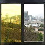 HOHO 2Mil Bright Yellow Tint Window Film Decorative Colored Window Film for Home Office Hotel 60''x98ft Roll