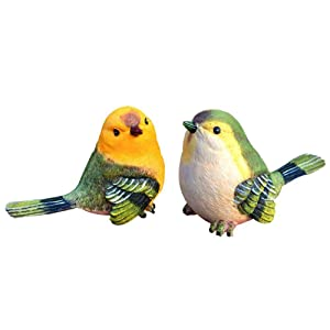 Garden Bird Statue - Funny Sculpture Ornaments Décor - Best Indoor Outdoor Statues Yard Art Figurines for Patio Lawn House