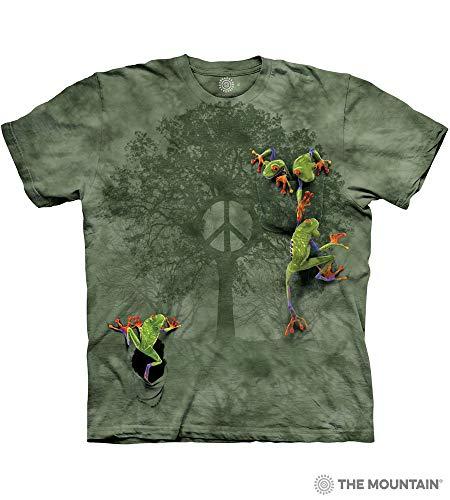- The Mountain Men's Peace Tree Frog Short Sleeve T-Shirt,Green,Medium