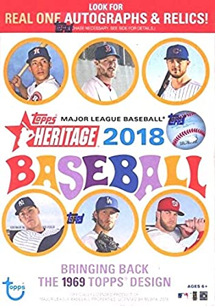2018 Topps Heritage Baseball Factory Sealed Blaster Retail Box
