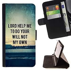 Momo Phone Case / Flip Funda de Cuero Case Cover - BIBLIA Se?or Helpe mí para hacer tu voluntad; - Samsung Galaxy Core Prime
