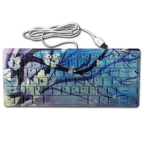 KKWODWCX Custom Peach Blossom Mini Keyboard Wired Thin Light 78 Keys Handheld Usb Multimedia For Pc Computer (Light Peach Tray)