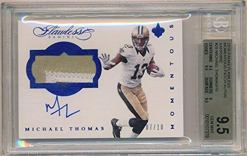 BIGBOYD SPORTS CARDS Michael Thomas 2016 PANINI Flawless RC AUTO 3 Color Patch #07/10 BGS 9.5 GEM 10 ()
