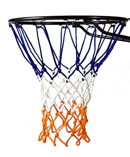 Basketball Net | NCAA & NBA Size | Fits Indoor and Outdoor Hoop/Goal | Replacement Netting for Official, Boys, Youth, Pool/Poolside Games. Blue, Yellow, Gold, White, Black & more by Fandom Nets (Basketball Rebounding Net)