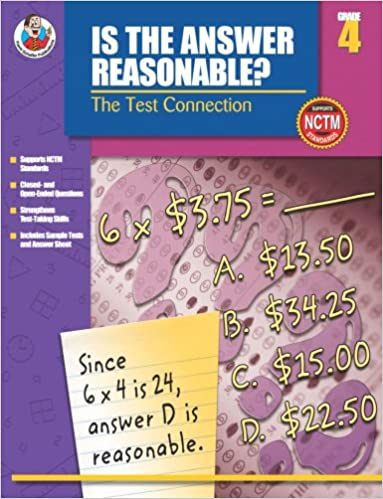 Frank Schaffer Publications - Is The Answer Reasonable?, Grade 4: The Test Connection