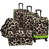 American Flyer Luggage Animal Print 5 Piece Spinner Set