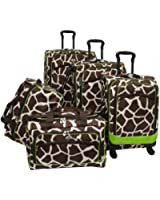 American Flyer Luggage AnimalPrint 5 Piece Spinner Set