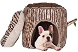 Image of Small Dog House Cat Bed tree shape with Removable Cushion by BINGPET