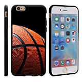 TurtleArmor | Apple iPhone 6 Case | Apple iPhone 6s Case [Flexible Armor] Resistant Slim Fitted Flexible TPU Case Soft Bumper Cover Sports and Games Design - Basketball Seams