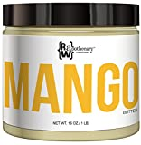 Raw, Unrefined Mango Butter, 16oz, 1 lb | 100 Percent Pure and Organic with Zero Additives, Cruelty Free | For Skin, Hair & DIY