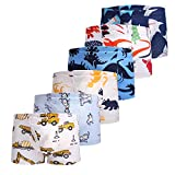 Taxzode Toddler Boys' 6 Pack Boxer Underwear for