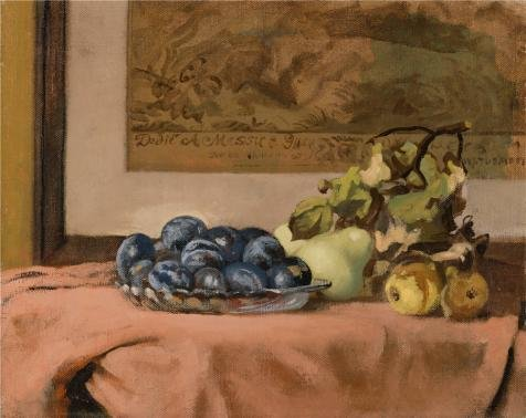 Evil Rabbit Costume Uk (High Quality Polyster Canvas ,the Reproductions Art Decorative Canvas Prints Of Oil Painting 'Walter Stuempfig,Still Life With Plums,1953', 12x15 Inch / 30x38 Cm Is Best For Foyer Decor And Home Decor And Gifts)