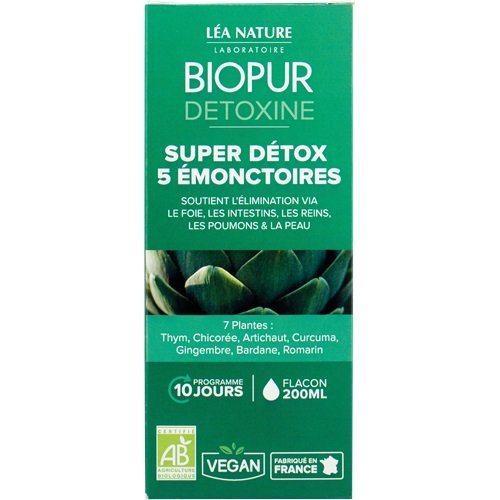 BIOPUR Kit Cocktail Détox 5 Émonctoires 1235461